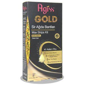 نوار موبر طلایی کامل بدن همراه با دستمال مرطوب آگیس 41 عددی