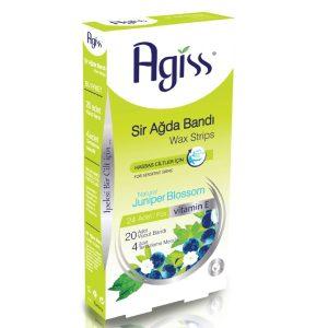 نوار موبر مناسب پوست های حساس همراه با دستمال مرطوب آگیس 24 عددی