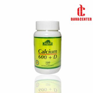 قرص کلسیم 600mg و ویتامین دی آلفاویتامینز 100عددی