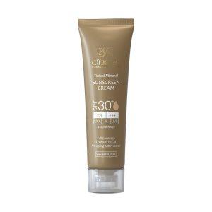 کرم ضد آفتاب رنگی فاقد چربی بژ طبیعی سینره SPF30+