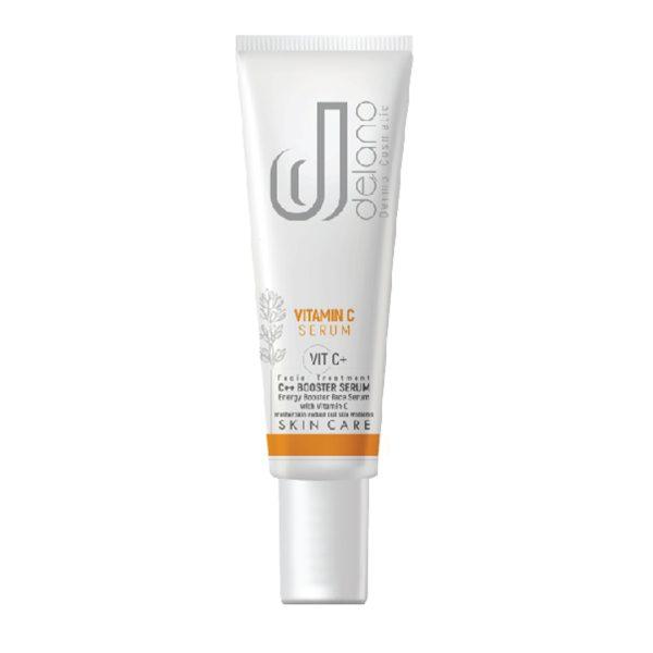 سرم بوستر جوانسازی و روشن کننده پوست ویتامین C دلانو 30ml