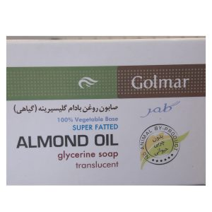 صابون گلیسیرینه روغن بادام پوست خشک و حساس گلمر 90gr