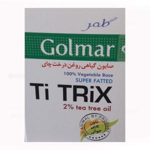 صابون گیاهی روغن درخت چای پوست چرب و آکنه ای Ti Trix گلمر 100gr