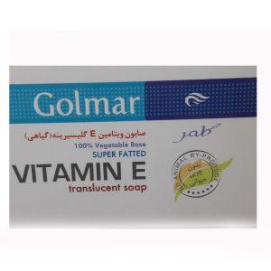 صابون گیاهی ویتامین E گلیسیرینه ضد چروک انواع پوست گلمر 120gr