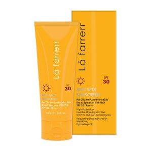 کرم ضد آفتاب و ضد لک پوست چرب و مستعد آکنه فاقد چربی لافارر SPF30