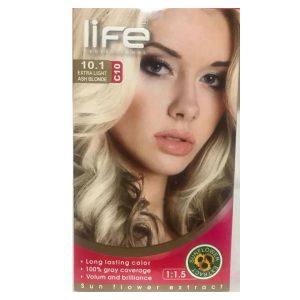 کیت رنگ مو زنانه شماره 10.1 لایف 60ml