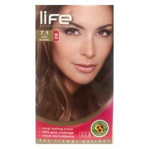کیت رنگ مو زنانه شماره 7.1 لایف 60ml