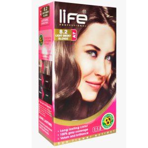 کیت رنگ مو زنانه شماره 8.2 لایف 60ml
