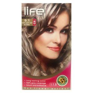 کیت رنگ مو زنانه شماره 9.1 لایف 60ml