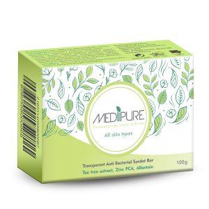 پن شفاف آنتی باکتریال انواع پوست مدیپور 100gr