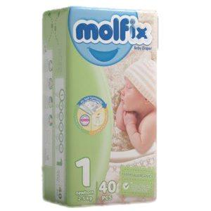 پوشک مخصوص کودکان مولفیکس 2 تا 5 کیلوگرم 40 عددی
