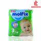 پوشک مخصوص کودکان مولفیکس 4 تا 9 کیلوگرم 14 عددی