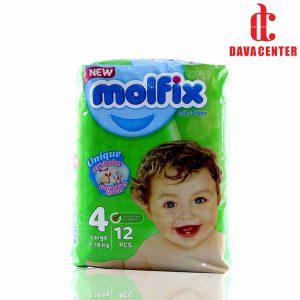 پوشک مخصوص کودکان مولفیکس 7 تا 18 کیلوگرم 12 عددی