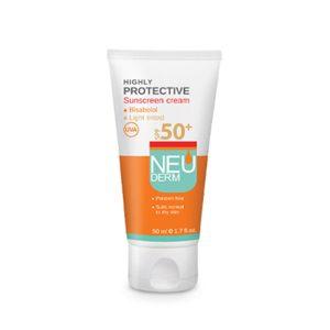 کرم ضد آفتاب روشن پوست نرمال تا خشک و حساس هایلی پروتکتیو نئودرم SPF50+