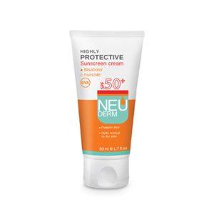 کرم ضد آفتاب بی رنگ پوست نرمال تا خشک و حساس هایلی پروتکتیو نئودرم SPF50+