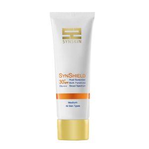 فلویید ضد آفتاب متوسط انواع پوست ساین شیلد ساین اسکین SPF30+
