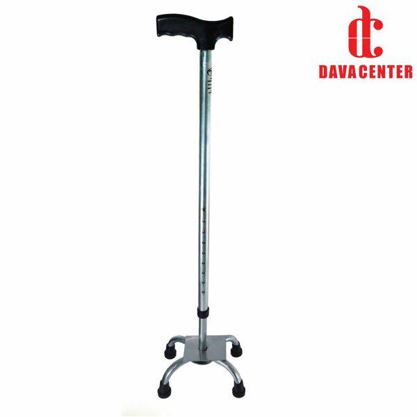 عصای چهار پايه آلومينيوم سيلور مدرج تسی
