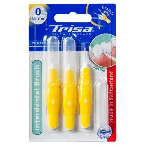مسواک بین دندانی پروفشینال ایزو زرد تریزا 0.6mm