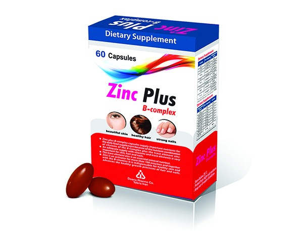 کپسول تقویت سیستم ایمنی بدن زینک پلاس ب کمپلکس 5mg دانا 60 عدد