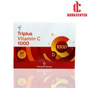 قرص ویتامین C زینک D تری پلاس 1000mg