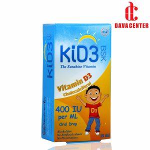 قطره ویتامین د3 400IU کید3 بی اس کی 15ml
