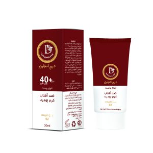 کرم ضدآفتاب کرم پودری شماره 02 بژ طبیعی انواع پوست درم انجلين SPF40+ 30ml