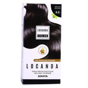 کیت رنگ مو قهوه ای شماره 4.0 لوکاندا 50ml