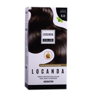 کيت رنگ مو شماره 5.0 لوکاندا 50ml
