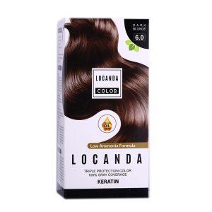 کيت رنگ مو بلوند تيره شماره 6.0 لوکاندا 50ml