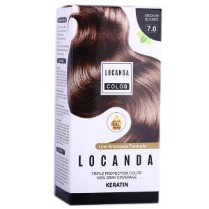 کیت رنگ مو بلوند متوسط 7.0 لوکاندا 50ml