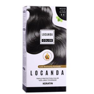 کیت رنگ مو بلوند دودی متوسط 7.1 لوکاندا 50ml