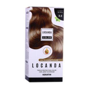 کيت رنگ مو شماره 8.0 لوکاندا 50ml