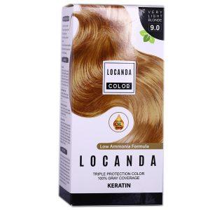 کیت رنگ مو بلوند خیلی روشن شماره 9.0 لوکاندا 50ml