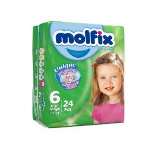 پوشک مخصوص کودکان مولفیکس 15 کیلو به بالا 24 عددی