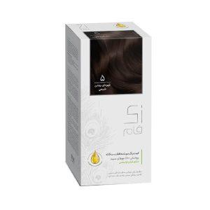کيت رنگ مو قهوه ای روشن طبیعی شماره 5 زی فام 50ml