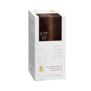 کيت رنگ مو بلوند تیره شکلاتی شماره 6.23 زی فام 50ml