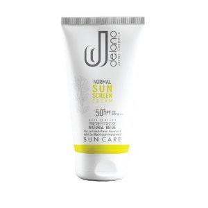 کرم ضد آفتاب بژ طبیعی پوست نرمال و خشک نرمال دلانو SPF50+