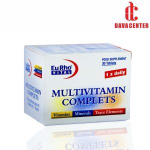 قرص مولتی ویتامین کامپلیت یورو ویتال 30 عددی