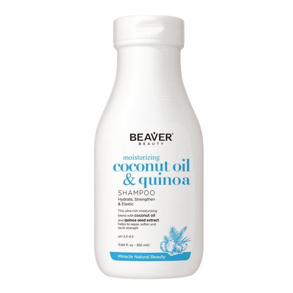 شامپو تقویت کننده و آبرسان موهای خشک حاوی روغن نارگیل و شیر بیور 350ml