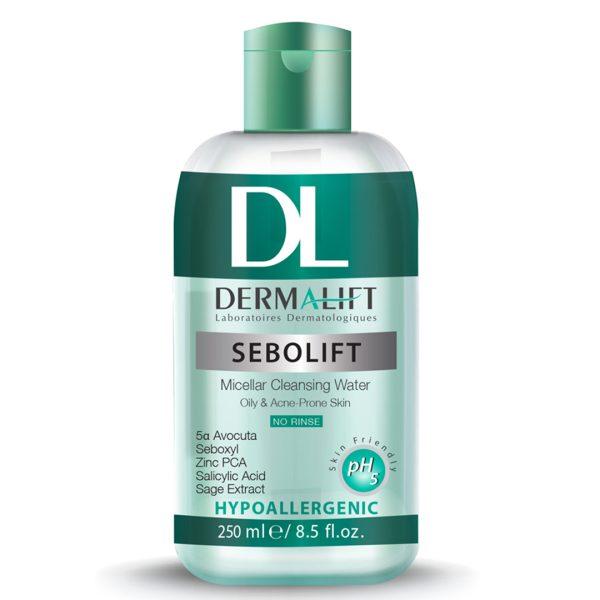 محلول پاک کننده میسلار پوست چرب سبولیفت درمالیفت 250ml