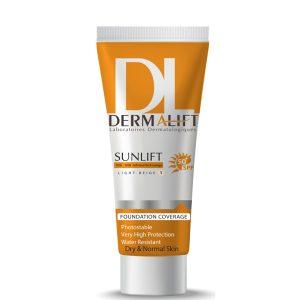 کرم ضد آفتاب شماره 1 بژ روشن پوست خشک سان لیفت درمالیفت SPF50+
