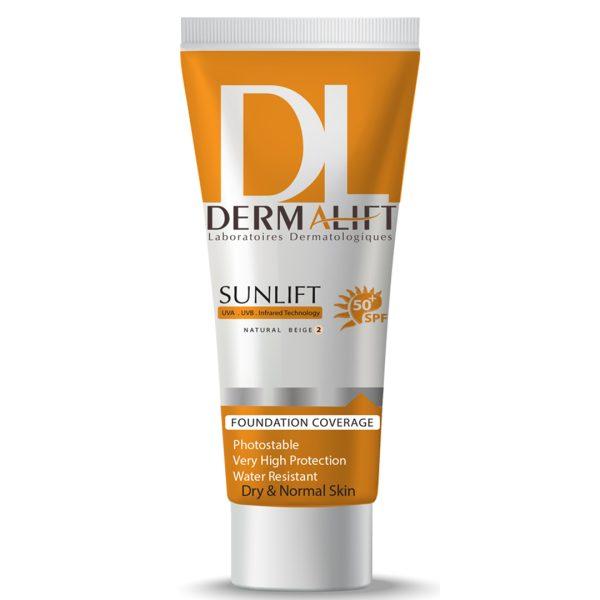 کرم ضد آفتاب شماره 2 بژطبیعی پوست خشک سان لیفت درمالیفت SPF50+