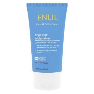 کرم ترمیم کننده و مرطوب کننده صورت و بدن حاوی ویتامین E انلیل 150ml