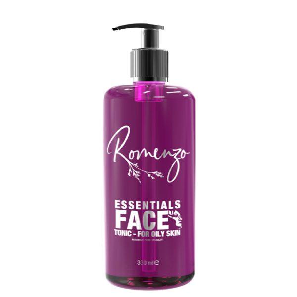 تونیک پاکسازی عمیق پوست مرطوب کننده و آبرسان Essentials رومنزو 330ml