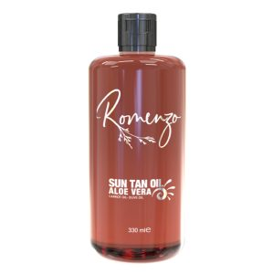 روغن بدن جوان کننده گیاهی برنزه کننده و ضد آفتاب Sun Tan رومنزو 330ml
