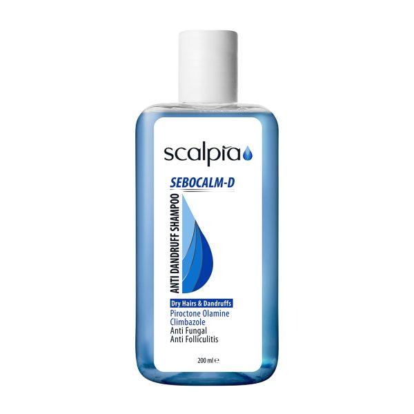 شامپو ضدشوره موهای خشک و شوره دار Sebocalm-D اسکالپیا 200ml