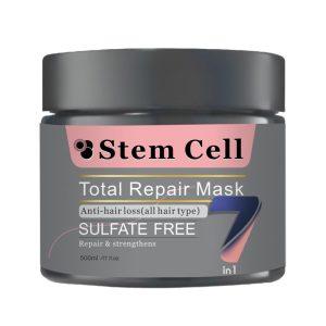 ماسک ترمیم کننده موهای وزدار Total Repair فاقد سولفات استم سل 500ml