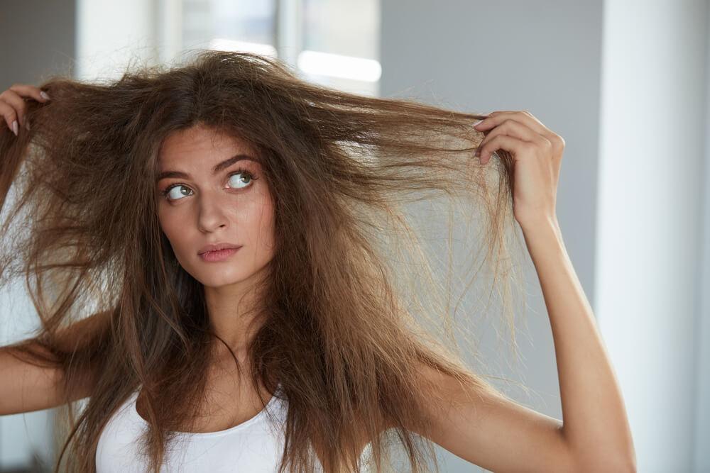 درمان موهای خشک و شکننده