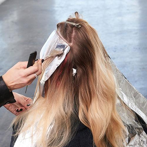 مش و رنگ کردن موها